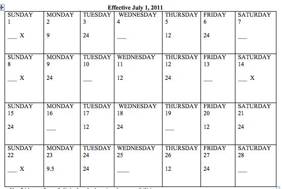 Schedule | Harlem Hospital Residency Program | General Surgery